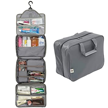 Amazon.com   Extra Large Hanging Toiletry Bag With Customizable ... 7fde729625136