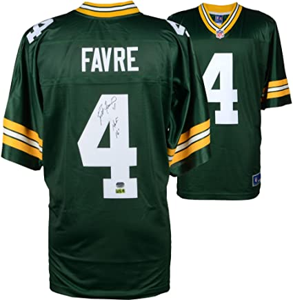 be52bae9c Brett Favre Green Bay Packers Autographed Green Pro-Line Jersey  with quot HOF 16 quot