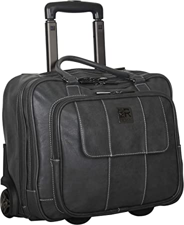 Kenneth Cole Reaction Charcoal Leather Luggage