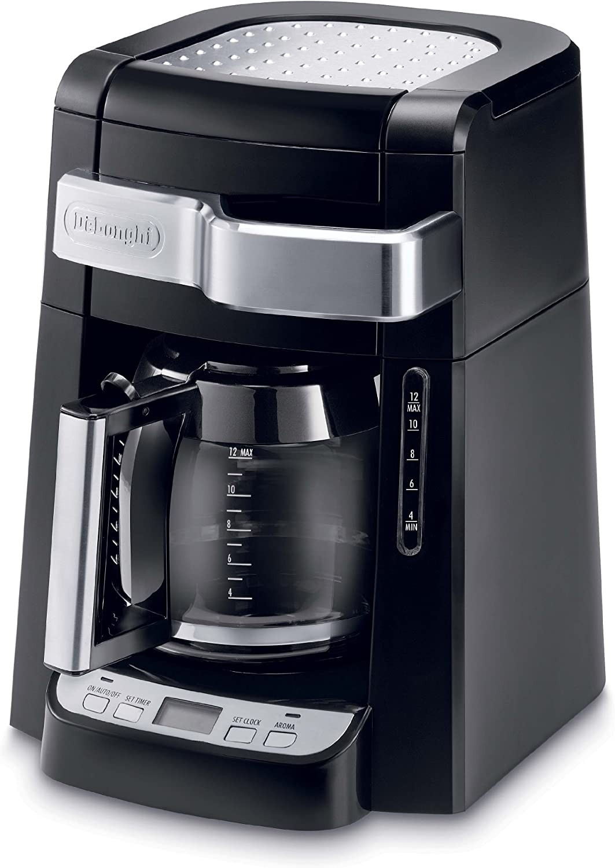 DeLonghi DCF2212T - Cafetera de filtro para 12 tazas de cristal, color negro: Amazon.es: Hogar