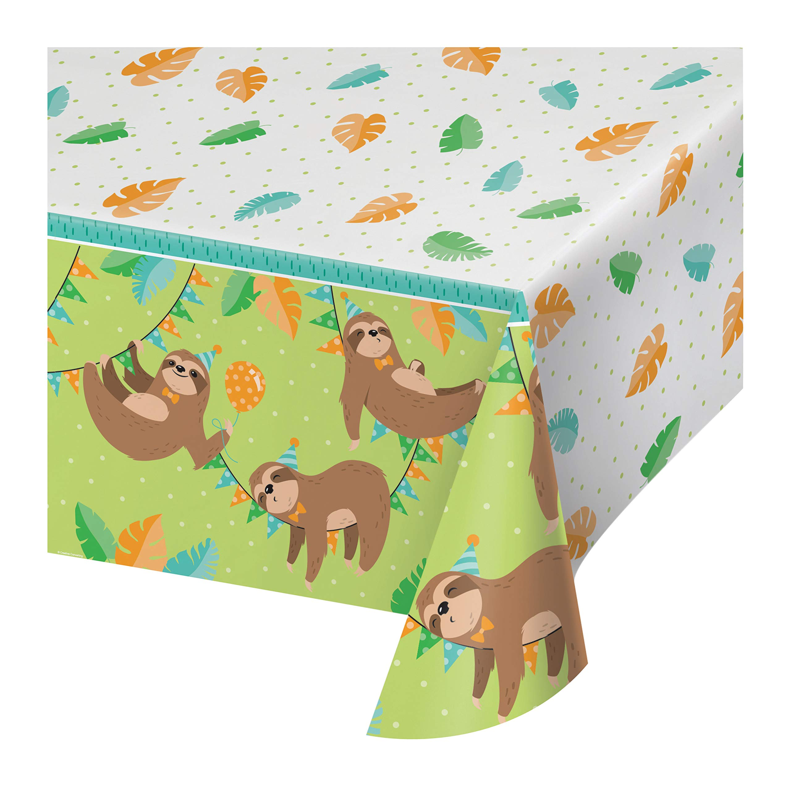 Sloth Party Plastic Tablecloths, 3 ct by Creative Converting