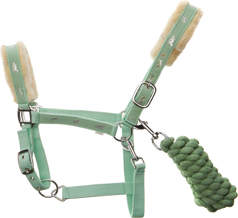 Horse Halters Nylon Lead Rope With Full Fur Adjustable