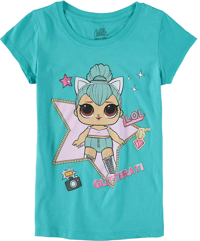 f9dc1db0ab65 Amazon.com: L.O.L. Surprise! Girls' Short-Sleeve T-Shirt 4-Pack: Clothing