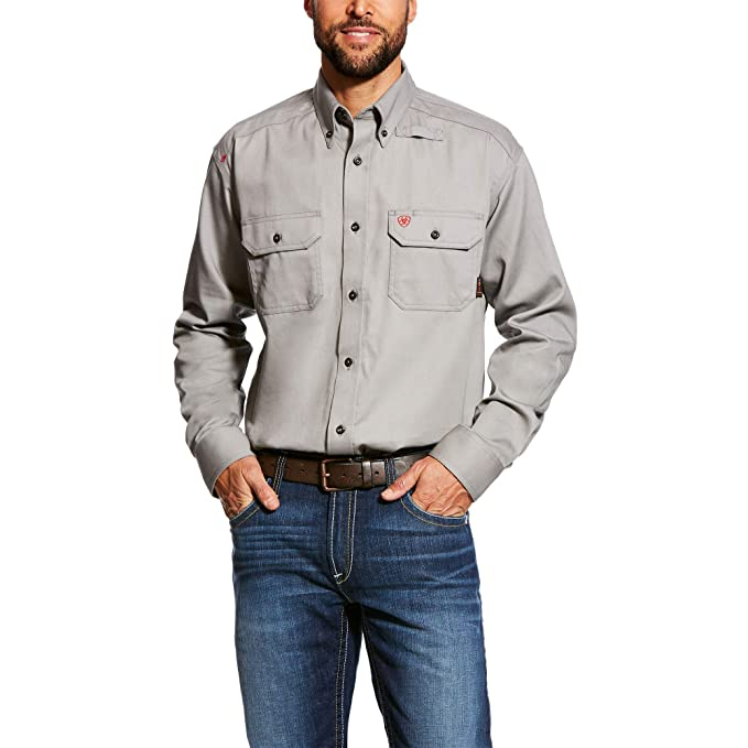 ARIAT Men's Flame Resistant Work Shirt: Amazon ca: Clothing