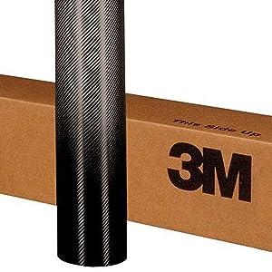 3M 1080 CF12 / CFS12 Gloss Black Carbon Fiber 5ft x 3ft (15 Sq/ft) Vinyl Wrap Film Sheet