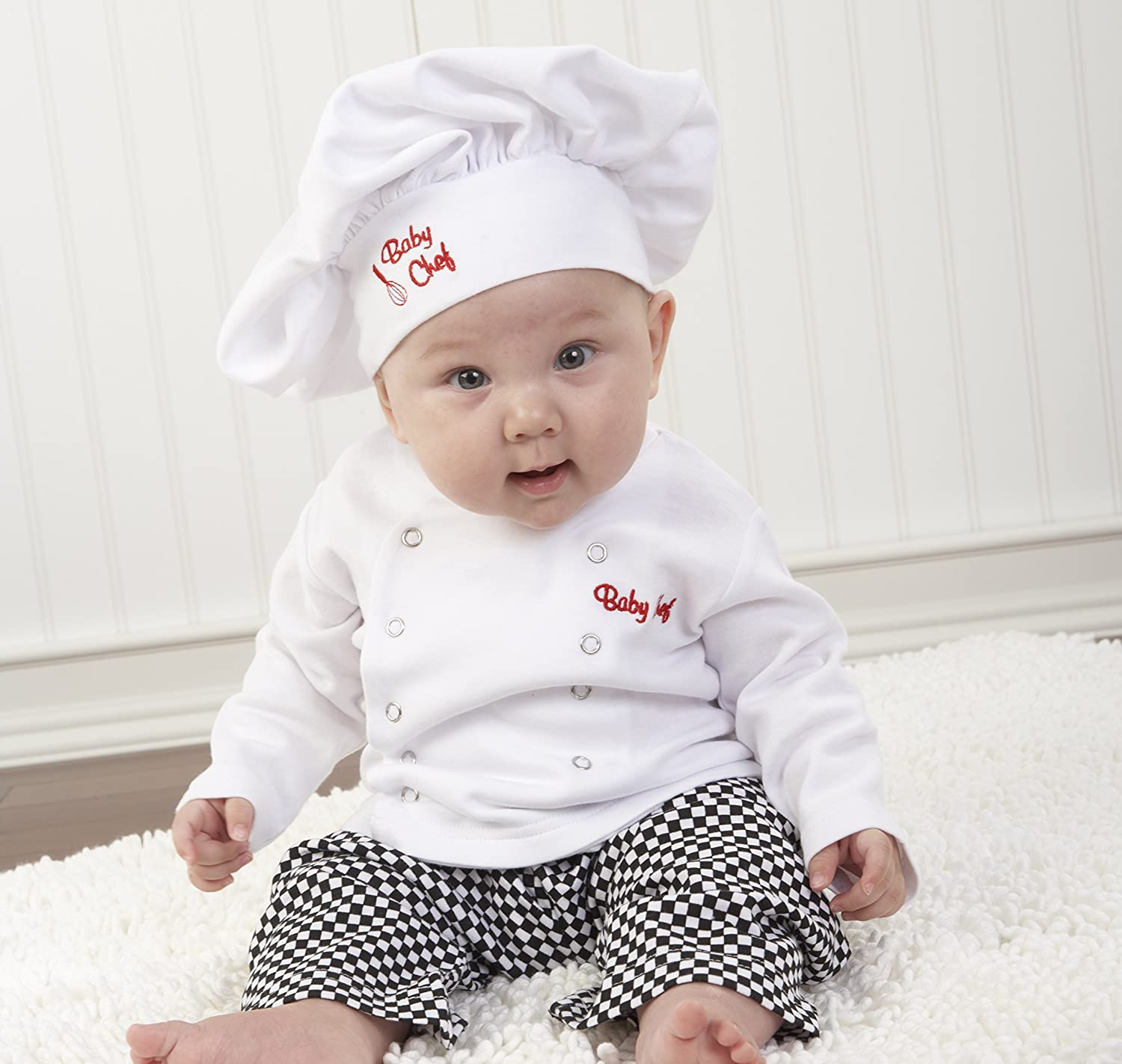 Baby Aspen Big Dreamzzz Baby Chef Three Piece Layette in Culinary