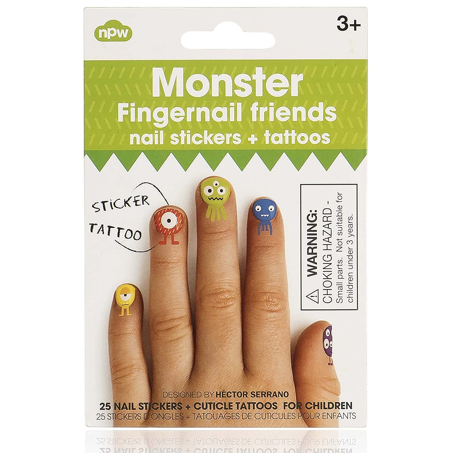 Fingernail Friends Monster Cuticle Tattoos And Nail Stickers By Npw