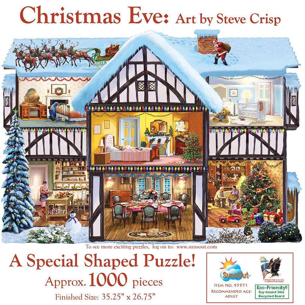 Christmas Eve Shaped Jigsaw Puzzle