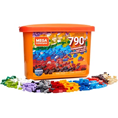 Mega Construx Open-Ended Play Brick Box for Ages 4+ (Building Toys for Creative Play - 790 Pieces), Multicolor (GJD24): Toys & Games