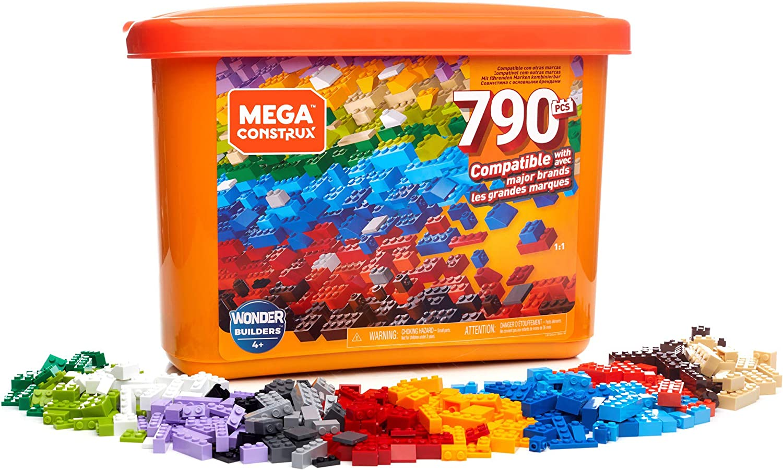Mega Construx Caja de 790 piezas y bloques de construcción para niños +3 años (Mattel GJD24) , color/modelo surtido: Amazon.es: Juguetes y juegos
