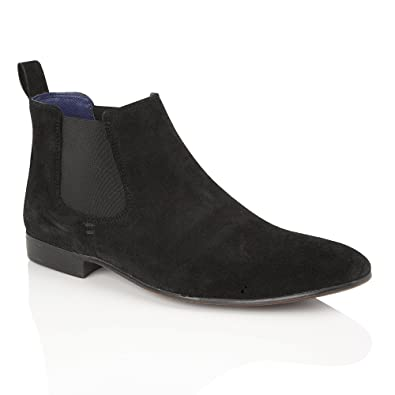 detailed look bde89 70a5b Silver Street London Mens Formal and Casual Suede Chelsea Boots Carnaby  with Patterned Elastics 7-12