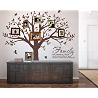LUCKKYY Grant Family Tree Wall Decal with Family Like Branches on a Tree Wall Decal Sticker Quote Living Room Decor(83…