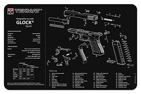 Amazon com : TekMat Gun Cleaning Mat for use with Glock Gen