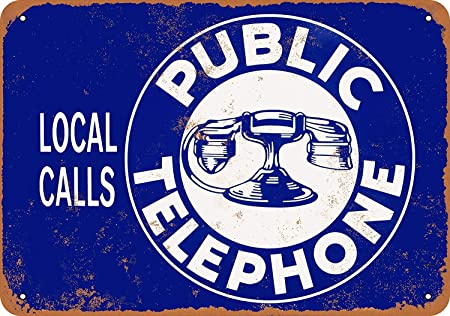 Kia Haop Public Telephone Local Calls Metal Fender Cartel De ...