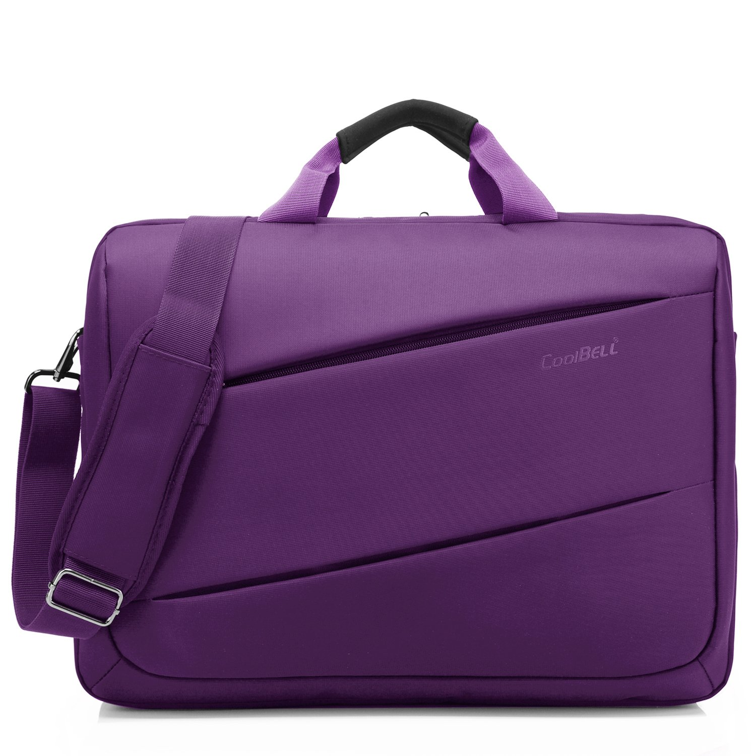 CoolBELL Shoulder Bag 17.3 Inch Laptop Bag Messenger Bag Briefcase Multi-Compartment Handbag for Dell Alienware/MacBook / HP/Lenovo / College/Women/Business (Purple)
