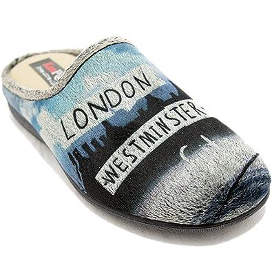 KonPas 510 - Zapatillas Grises y Azules de Music Rocks Londres: Amazon.es: Zapatos y complementos