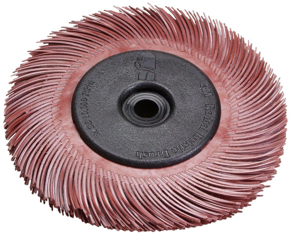 Scotch-Brite(TM) Radial Bristle Brush Replacement Disc T-C 220 Refill, Aluminum Oxide, 6000 rpm, 6 Diameter x 1 Width, Red (Pack of 40)