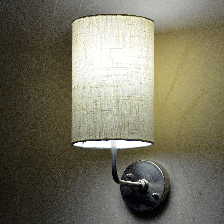 Craftter Khadi Textured Round Wall Lamp (CRWL-54, White)