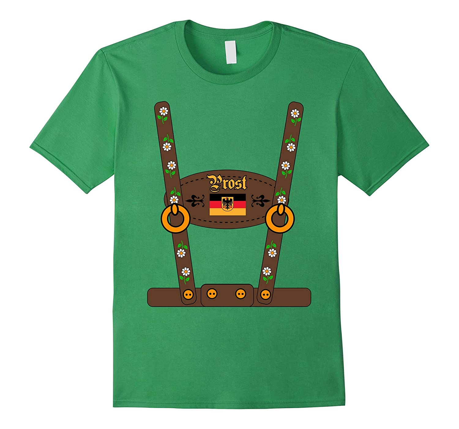 9a2465c6 LEDERHOSEN Oktoberfest Beer Party costume German T-Shirt-FL ...