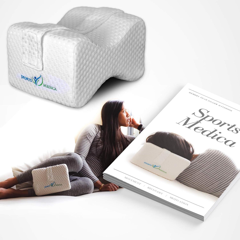 Almohada de espuma de memoria con la correa para pierna - DOCTOR Recomendado para la ciática, el embarazo, la espalda, la rodilla y la cadera de dolor - e-Book ya disponible