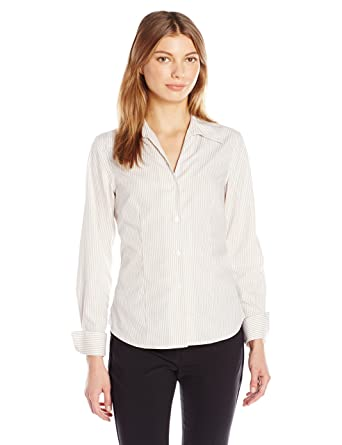 5cfdf655a35d1d Calvin Klein Women s Long Sleeve Wrinkle Free Button Down at Amazon Women s  Clothing store