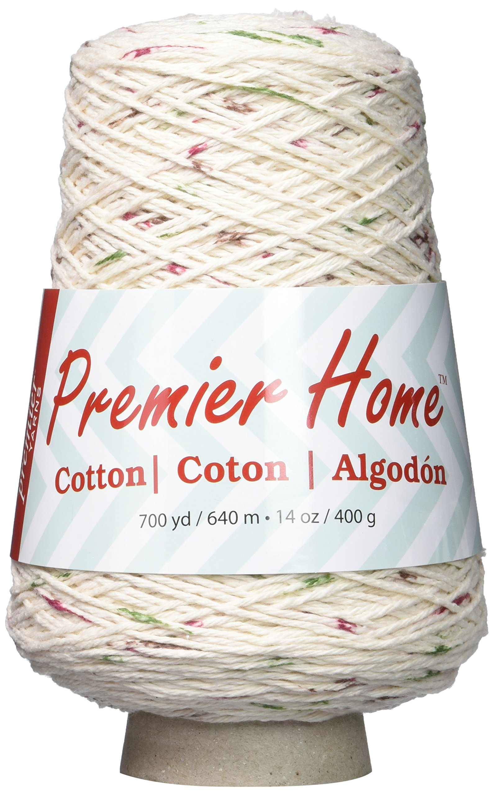 Premier Yarns 1032-07 Home Cotton Yarn - Multi Cone-Vineyard Dots