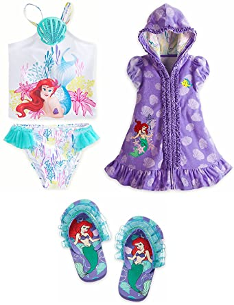 5ac496b42d Image Unavailable. Image not available for. Color: Disney Store Ariel Girl Swimsuit  Cover ...