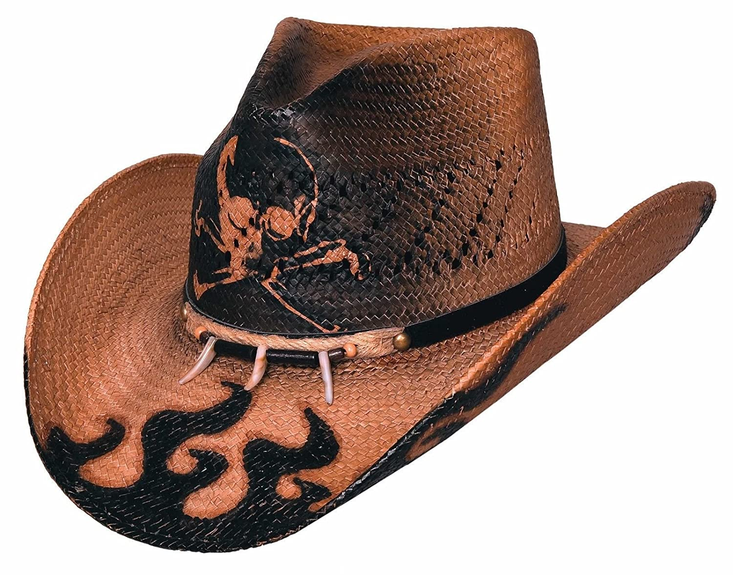 Montecarlo Bullhide Hats - DANGEROUS - Western Toyo Straw Cowboy Hat  (XLarge) at Amazon Women s Clothing store  Cowboy Hats 90a39900c08