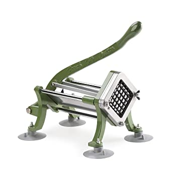 New Star Foodservice 42313 Commercial Grade French Fry Cutter with Suction Feet
