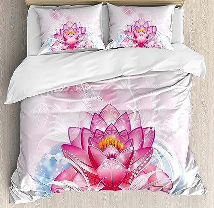 Amazoncom Flower Duvet Cover Set Full Ultra Soft Hypoallergenic