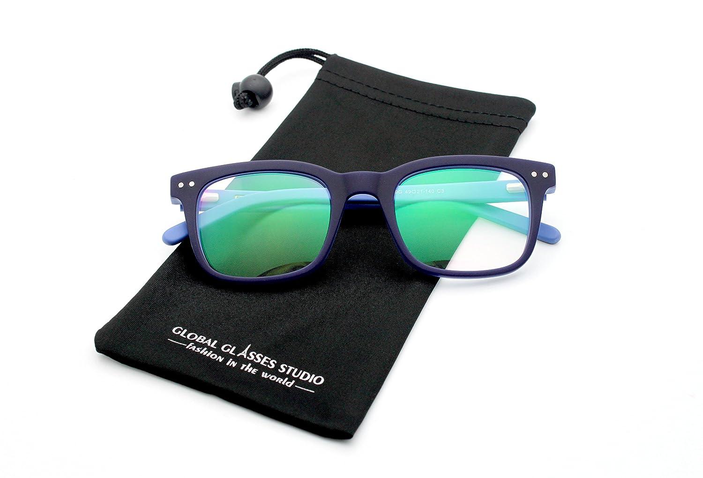 Retro Wayfarer Style Rx-Able Eyeglasses Black 609G Global Glasses Studio