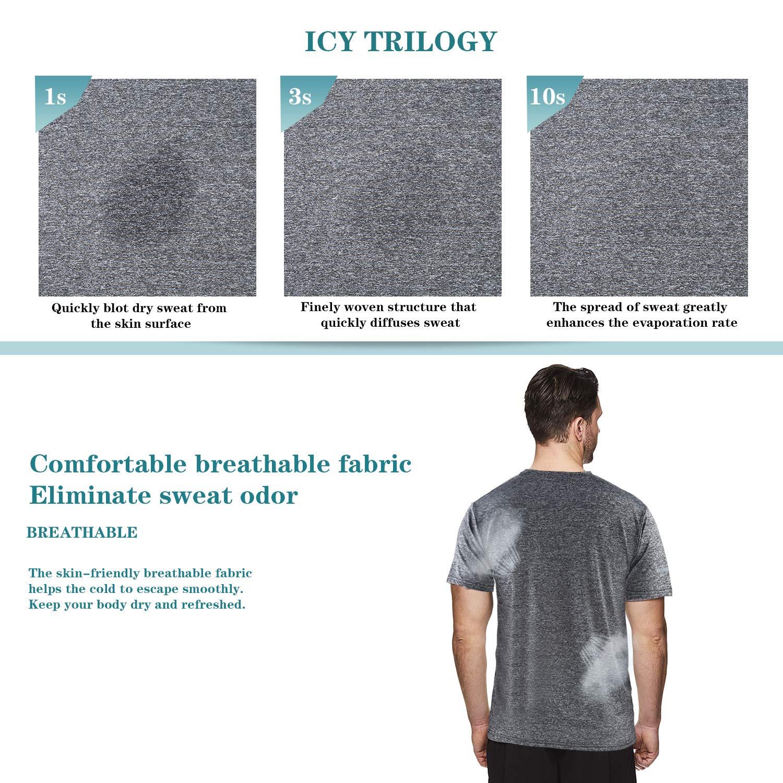 NGOZI Quick Dry T Shirt Uomo Atletico in Esecuzione Formazione Magliette Uomo Sportswear Manica Corta Activewear Maglietta Uomo