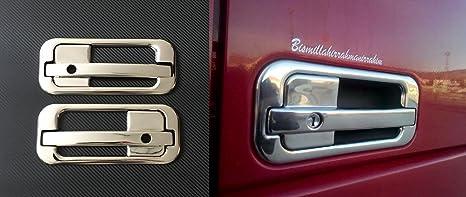 gauche et /à droite 3d Chrome Miroir en acier inoxydable Poign/ée de porte couvertures