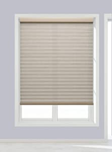 Decor Avenue Custom Cordless 34 1/2 W x 30 to 36 H Muslin Light Filtering Cellular Shade Inside Mount