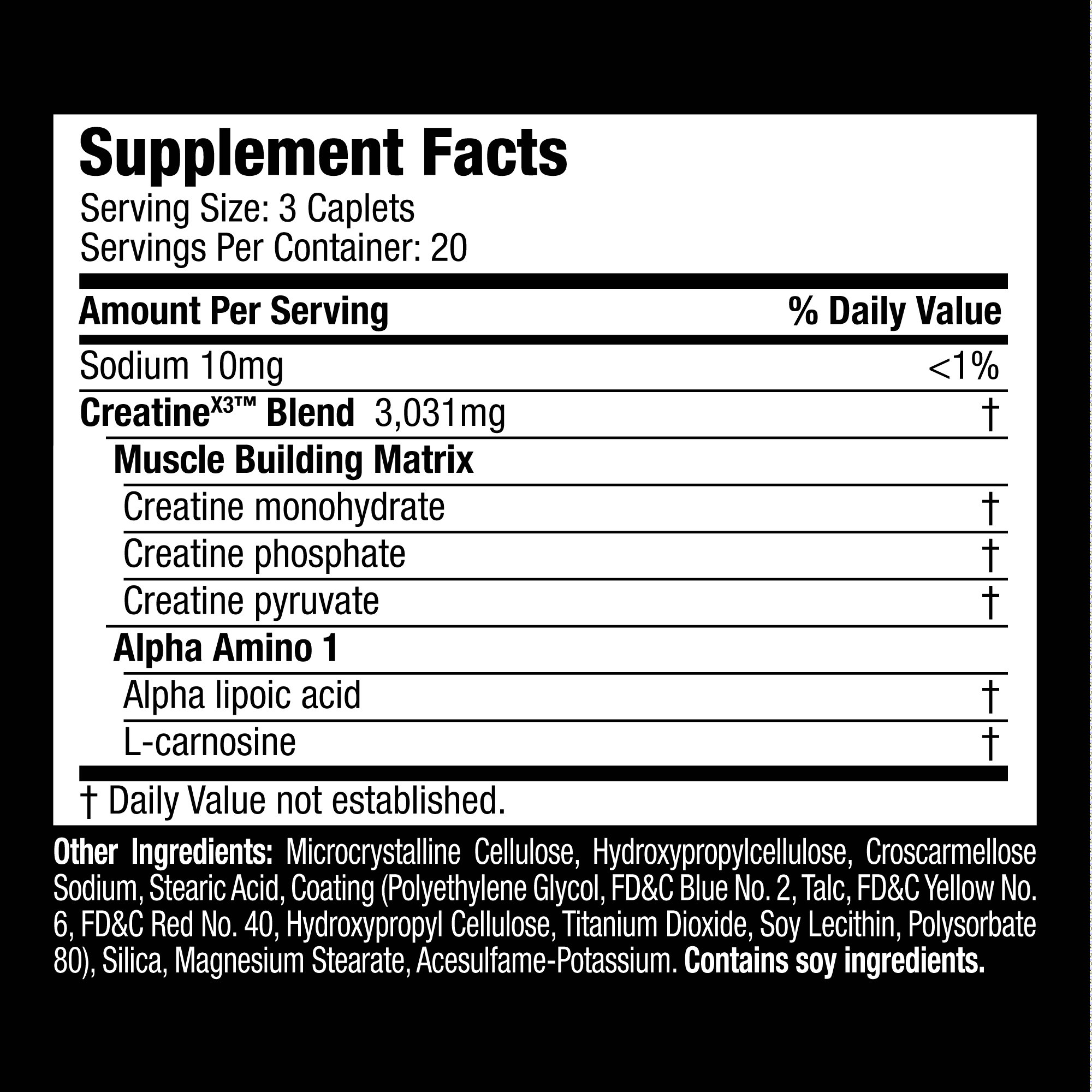 how to take creatine x3 pills