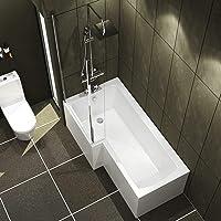 Qubix L Shape Shower Bath