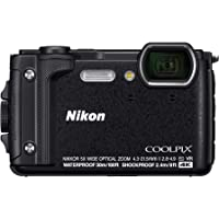 Nikon W300 Coolpix Digital Camera, Black