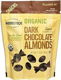 product image for Woodstock Farms Organic Dark Chocolate Almonds -- 6.5 oz