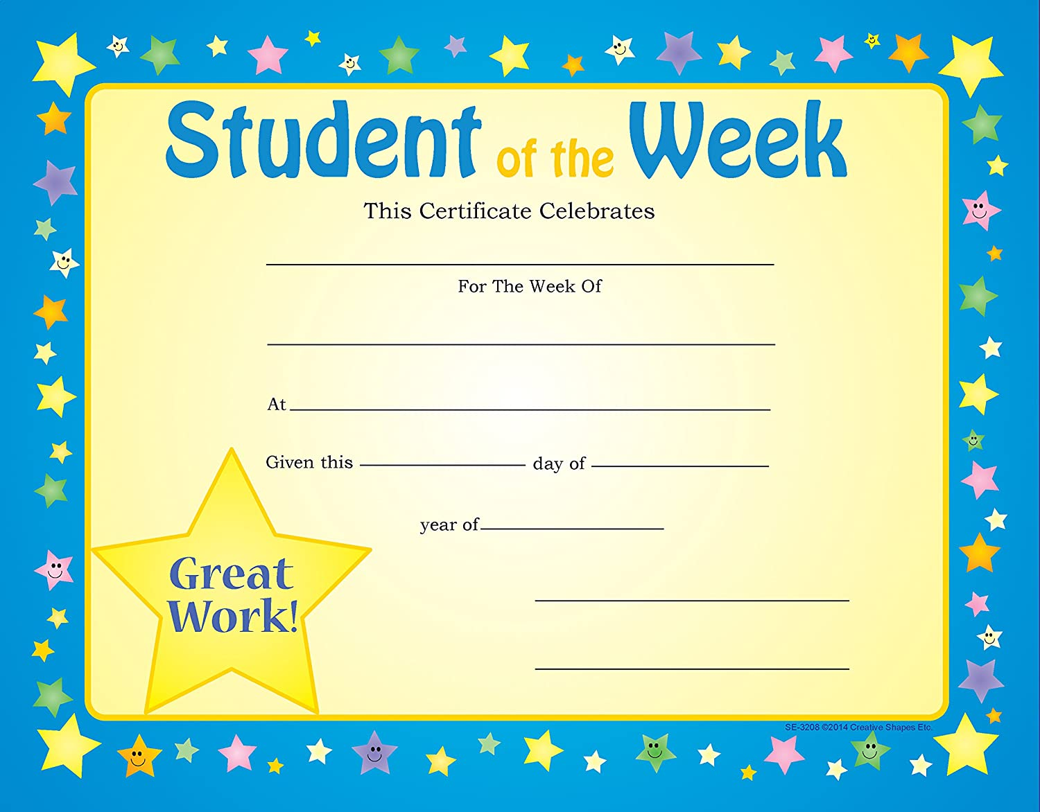 Amazon Student Of The Week Recognition Certificates Office