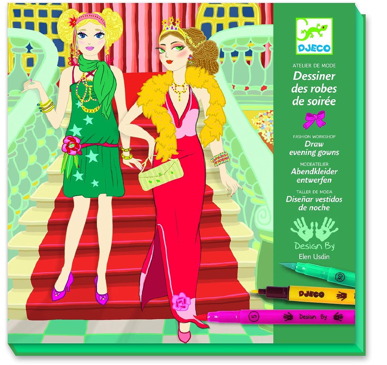 Djeco Drawing Kit, Evening Dresses