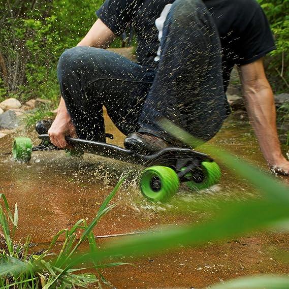 MBS Ruedas Todo Terreno para Patinar en Longboard, Verde: Amazon.es: Deportes y aire libre