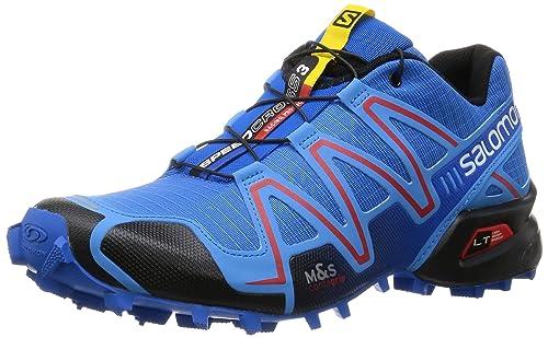 Salomon Speedcross 3, Zapatillas de Trail Running para Hombre, Azul (Bright Process Blue/Radiant Re), 41 1/3 EU: Amazon.es: Zapatos y complementos