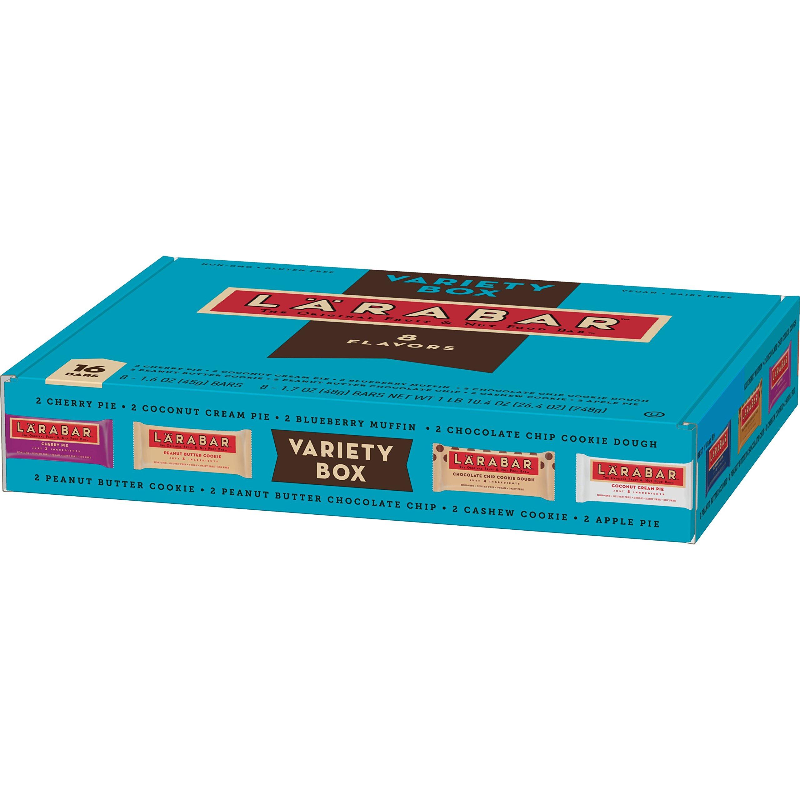 LARABAR, Fruit & Nut Bar, Snack Bar Variety Box, Gift Pack, Gluten Free, Vegan, 8 Assorted Flavors (16 Count), Net wt. 26.4 oz