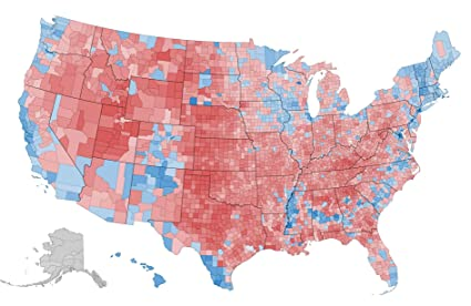 Amazoncom Home Comforts Laminated Map Us Crime Map Vs Election - Crime-map-of-the-us