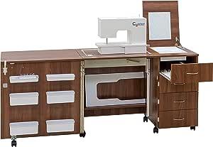 Comfort 2 | Mueble para máquina de coser | (Walnut Aida Tobacco, L ...