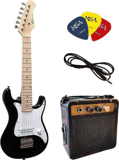1//2 Kinder E-Gitarre Set mit Verstärker und Zubehör rot