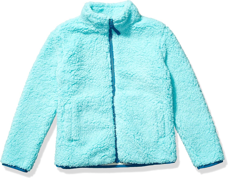 Essentials Girls Full-Zip High-Pile Polar Fleece Jacket Jacket