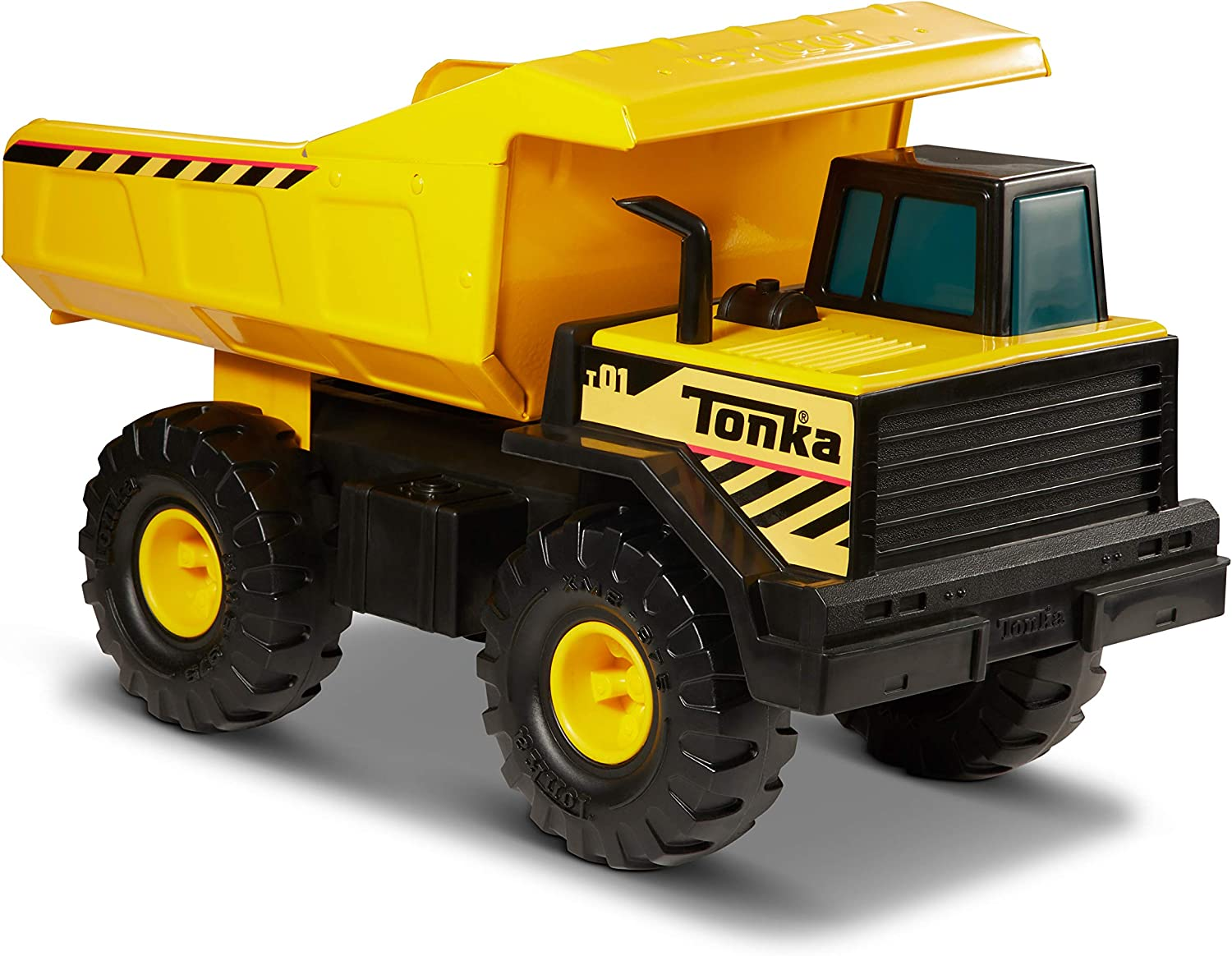 Tonka Steel. Camión Volquete de acero de 43cm- Camión - Volquete de Acero de 43 cm, Multicolor (Funrise 93918)
