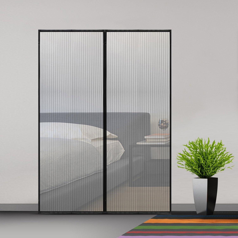 MODKOY Cortina Mosquitera para Puertas, Cortina Mosquitera para Puertas, Adsorción magnética Plegable Cortina Ultrafina para Pasillos/Puertas - Negro 170x185cm(66x72inch): Amazon.es: Hogar