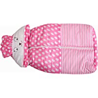Kidswear Newborn Baby Sleeping Bag with Wrapper Zip, Multi-Color(0-6 Months) (Color/Print May be Variation)
